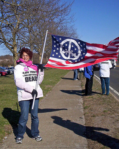 CodePINK and their respect for the American flag
