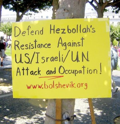 Left-Wing support of Hezbollah