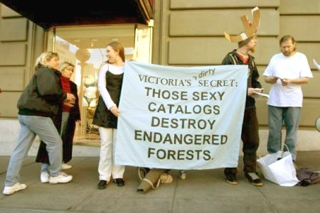 Protesting Victoria's Secret