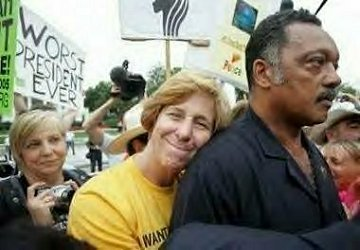 Cindy Sheehan and Jesse Jackson