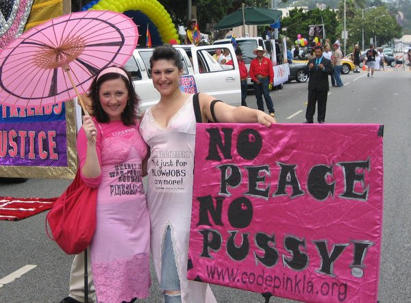 The modern day lady from CodePINK