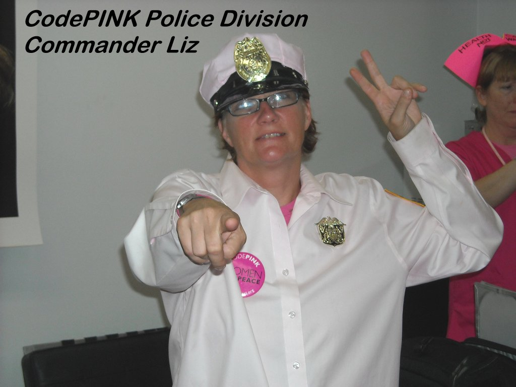 Commander Liz from CodePINK