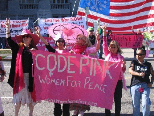 CodePINK protesting