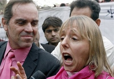 Tighe Berry and Medea Benjamin