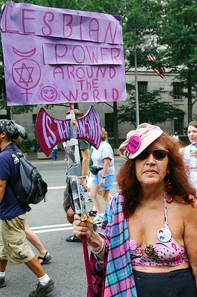 Old CodePINK Lady