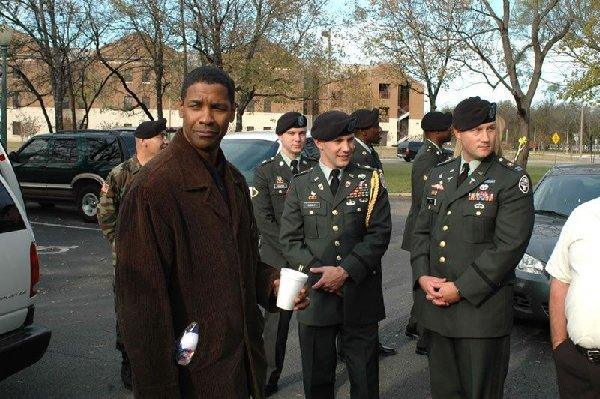 Denzel Washington at Brook Army Medical Center