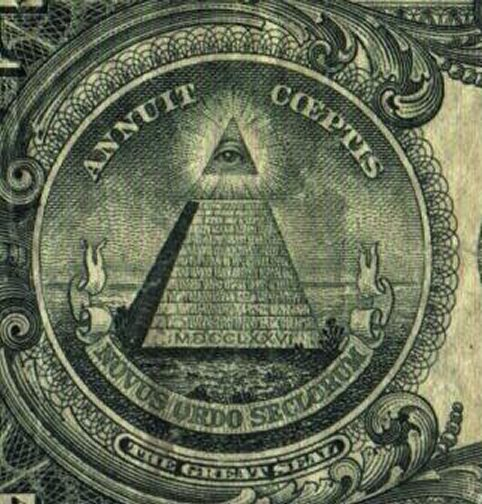 One Dollar Bill Pyramid