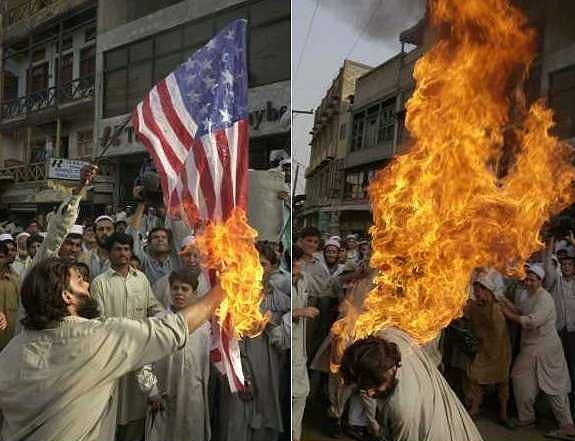 The Burning of the American Flag