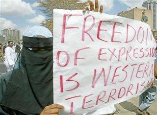 Muslim Protester