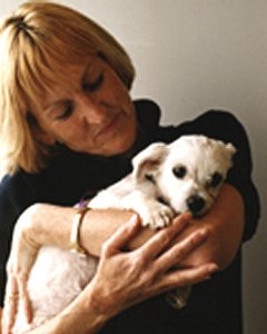 Ingrid Newkirk and puppy