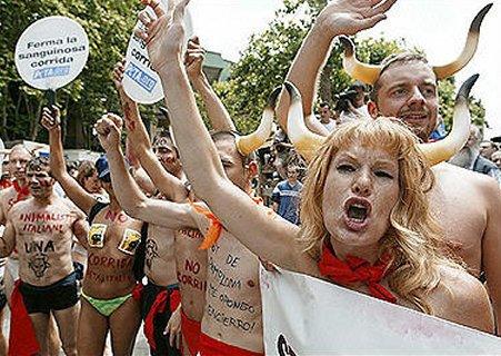 Obnoxious PeTA Protesters