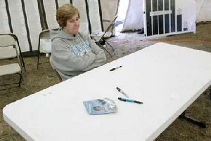 Cindy Sheehan at her book signing