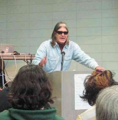 Ward Churchill speaking at the Anarchist Book Fair